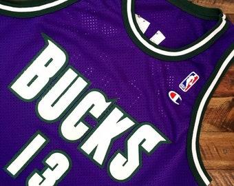 c48c1b60ff24 Vintage Milwaukee Bucks Authentic Champion Jersey