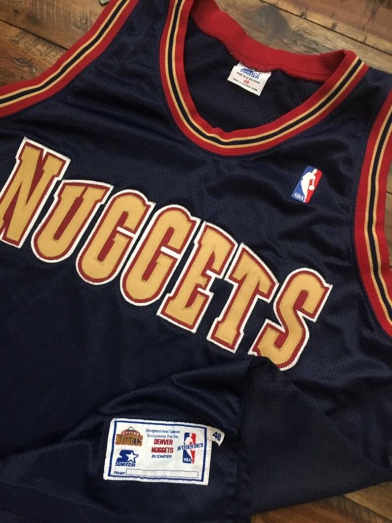 buy online ba583 589f8 vintage Denver Nuggets Authentic Starter Jersey