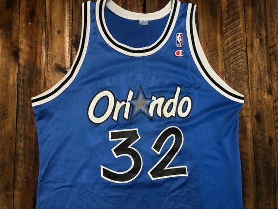 Vintage Orlando Magic Shaquille Oneal Champion Jer