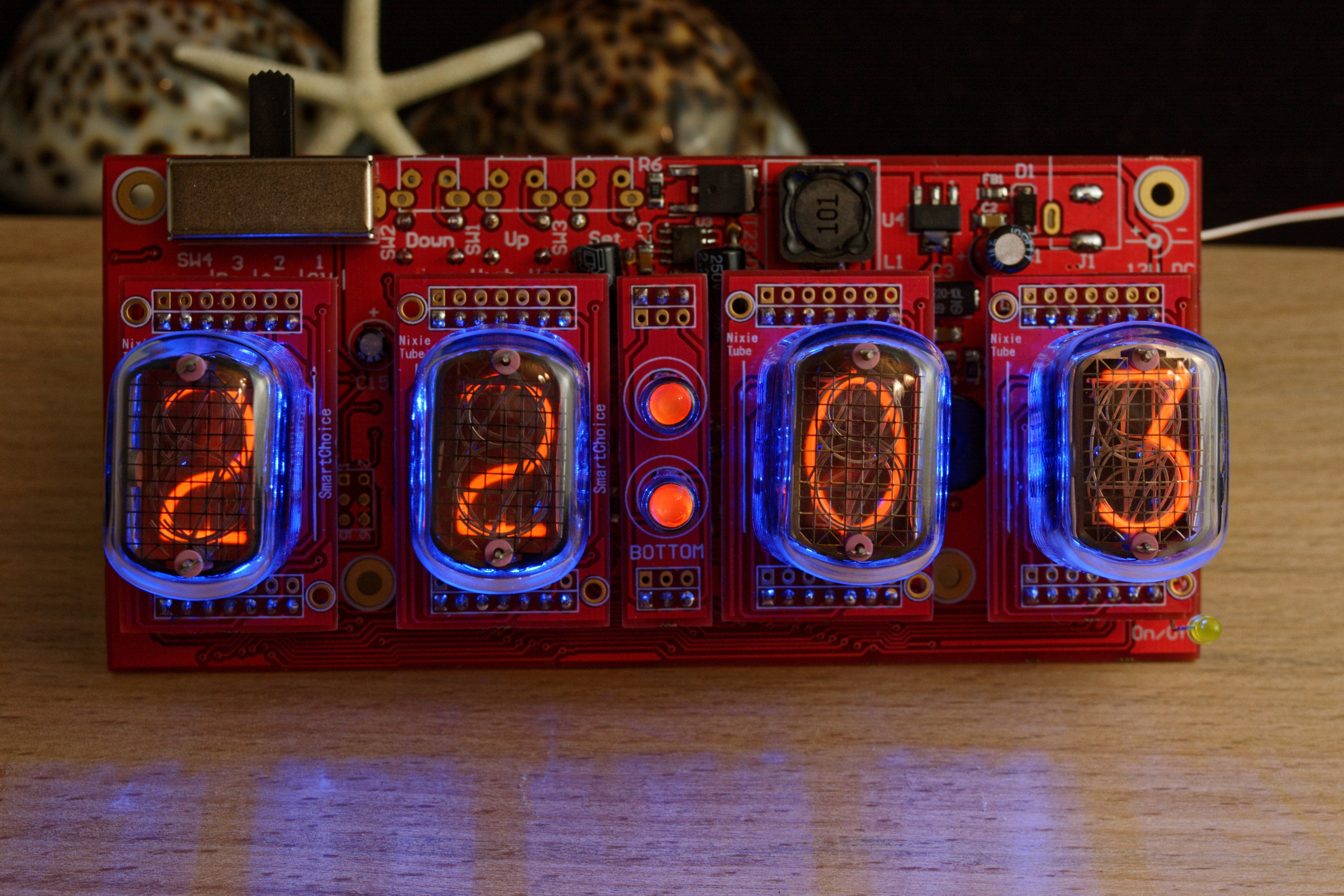 Nixie Tube Clock In 12 Without Case Blue Backlight Alarm Etsy Schematic Of My 6 Digit Here Are Some Photos