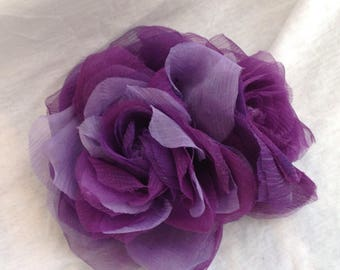 Ultraviolet, brooch with violet roses, ultraviolet flower brooch, bridesmaid gift, anniversary gift, gift for you, purple brooch