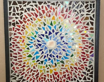 Mosaic Sunburst Wall Hanging
