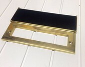 Polished Brass Internal Letter Box Tidy Draft Excluder