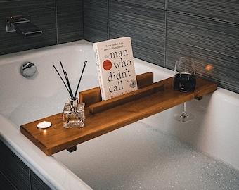 Bath Caddy Tray Board Book Holder | Bath Caddy Tray Board Wine Holder | Bath Caddy Mug Holder | Bath Tub Tray | Bath Tub Caddy | Bath Board