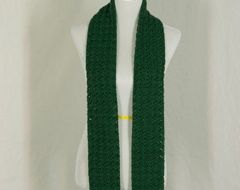 Crochet Scarf, Emerald Green Neckwarmer, Winter Accessory, Gift for Her