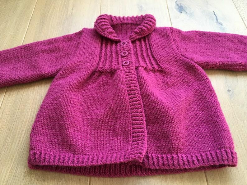 Baby girl jacket Baby girl knit Baby girls cardigan Baby knit Baby cardigan Handknit baby cardigan