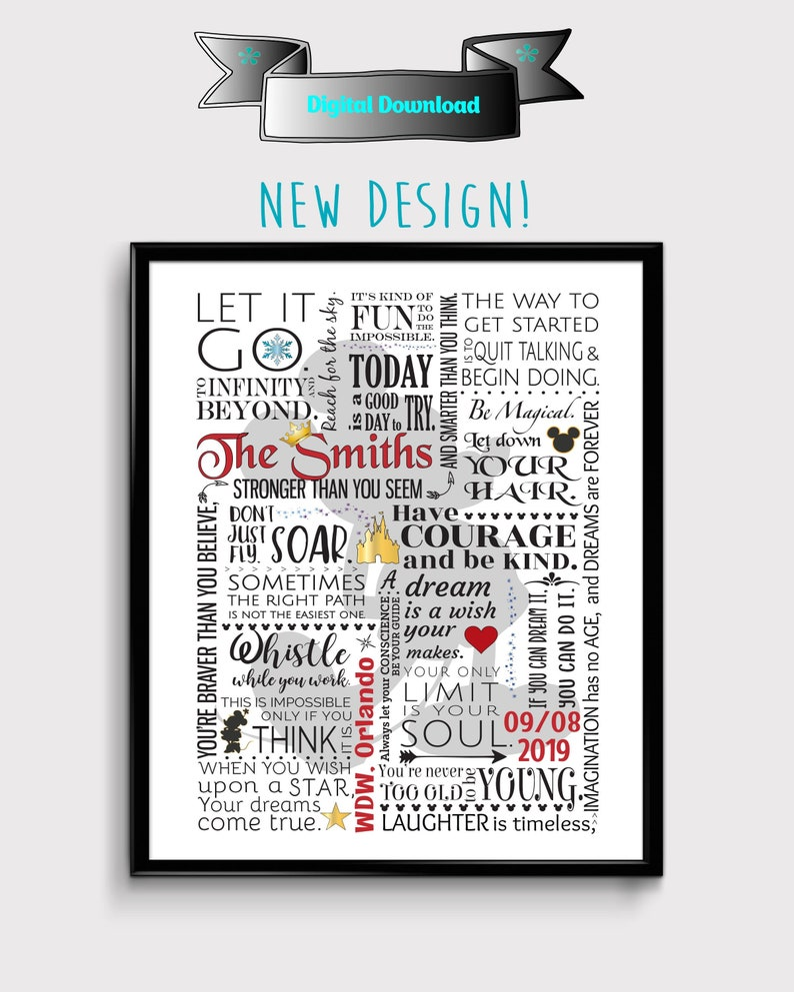 personalized disney art personalized disney home decor