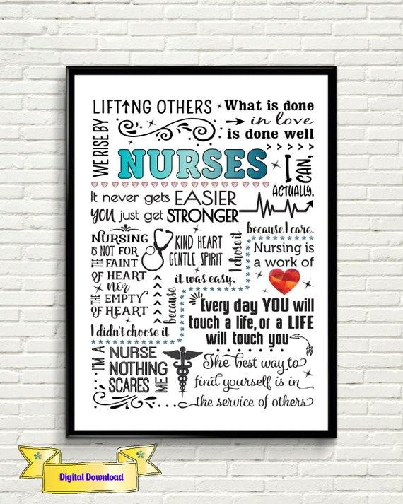 unique gift for nurse nurse print nurse quotes lpn gift