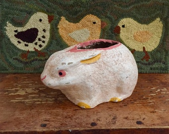 Jamieson Studio Folk Art Papier Mache Easter Bunny