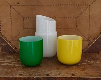 Jonathan Adler Hand Blown Glass Pill Carafe w/extra cup
