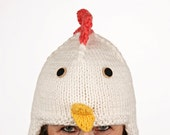 Hat animal - UNIKAT - handmade funny winter hat in chicken shape for kids