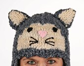 Hat animal - UNIKAT - handmade funny hat in cat shape for adults