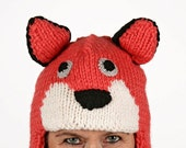 Hat animal - UNIKAT - handmade funny hat in fox shape for adults