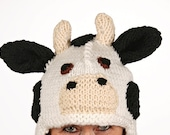 Hat animal - UNIKAT - handmade funny hat in cow shape for kids