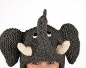 Hat animal - UNIKAT - handmade funny winter hat as funny elephant for kids