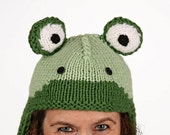 Hat animal - UNIKAT - handmade funny hat in frog shape for kids