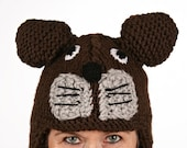 Hat animal - UNIKAT - handmade hat in teddy shape for adults