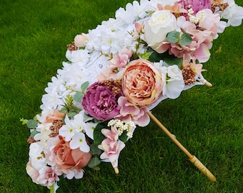 Bridal Umbrella Flower Girl Parasol Bridal Floral Umbrella  Wedding Photography Decor Window Shop Display Spring Summer Catwalk Decor
