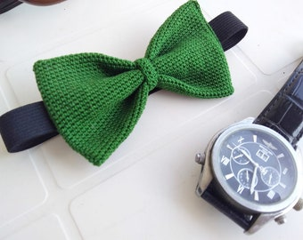 Bow tie, Green papillon, wood, wedding dress, gift for him
