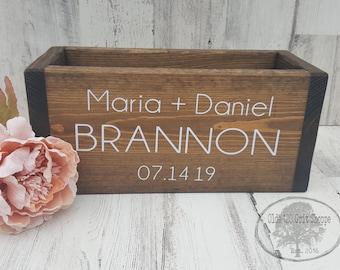 Wedding Card Box | Wedding Card Holder | Wedding Advice box | Wood Card Box |  | Rustic wedding card box | laurel wreath | Money Box