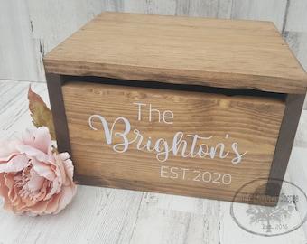 Wedding Card Box with slot | Secure Wedding Card Box | Wedding Card Holder | Advice Box | Wood Card Box | Rustic Wedding Card Box