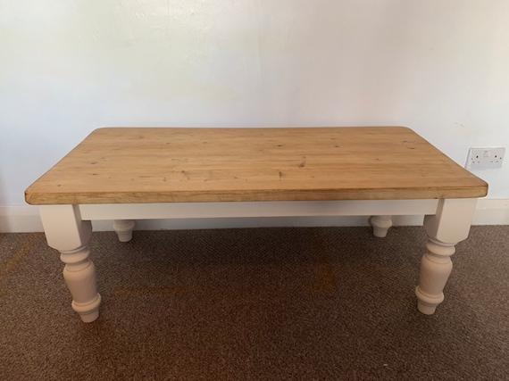 Coffee Table Farmhouse Style Legs Rustic Shabby Chic Coffee Etsy