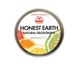 Honest Earth Natural Deodorant Paste - Bergamot Citrus Paste