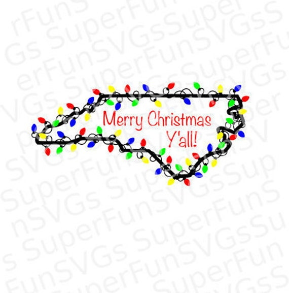 Merry Christmas Y All Nc Merry Christmas Y All North Etsy