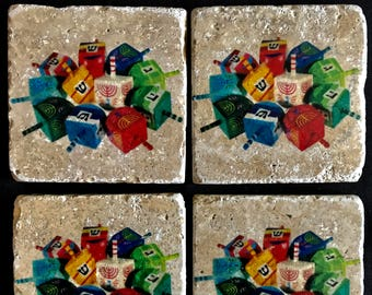 Dreidel Coasters