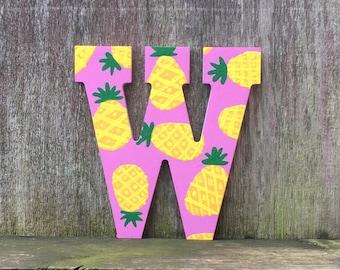 pineapple letters, pineapple decor, pineapple print, pineapple monogram, pineapple wall art, pineapple party, pineapple gift, fruit print