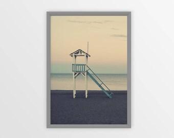 BEACH PRINT, Beach Poster, Coastal Photography, Sand, Beach Art, Beach Coastal Art Print, Ocean Art, Ocean Print, Vintage Photo