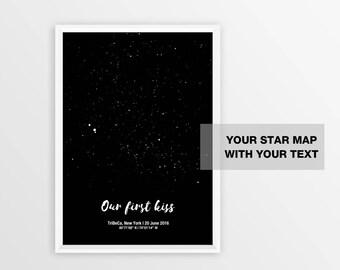 Printable Star Map Etsy - Printable star map