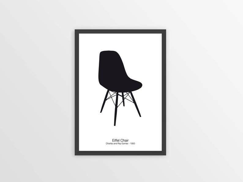 Charles Eames Chair : Eames chair print chair signs home decor mid century etsy