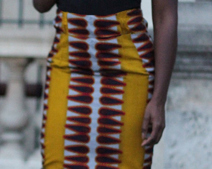 Wax pencil skirt