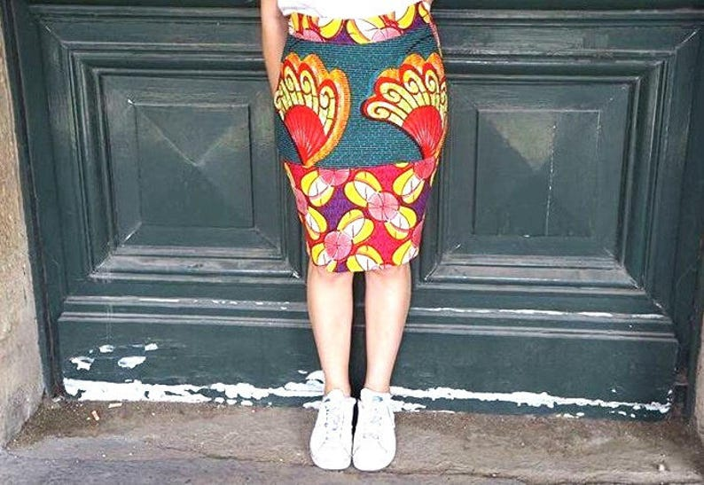 Wax pencil skirt image 0