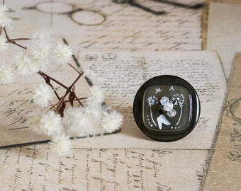 Stetement ring - Statement jewelry - Boho ring - Boho jewelry - Green ring - Dandelion ring . Dandelions - Gift for her - <birthday gift