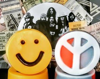 Hippie Soap, Goat Milk Soap, Emoji Soap, Peace Sign Soap,