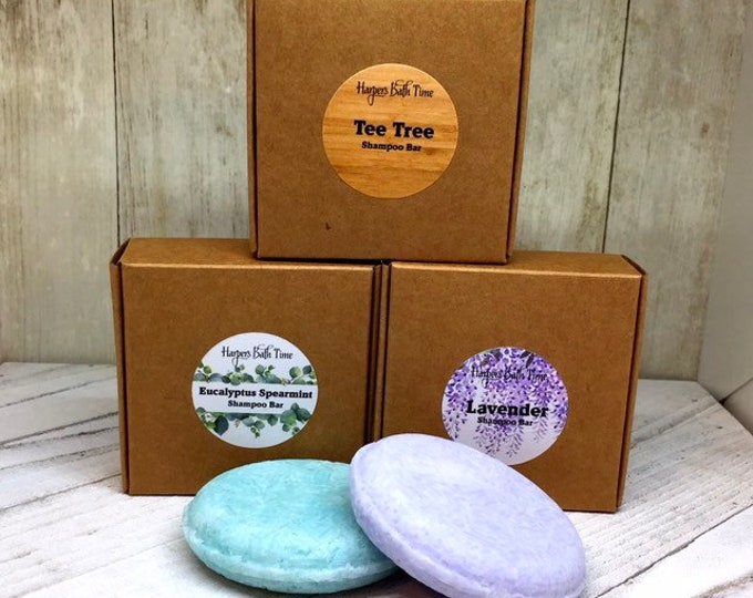 Featured listing image: Shampoo Bar all Natural Lavender, Eucalyptus, Tea Tree Shampoo Bar Plant Based Zero Waste Packaging for Self Care