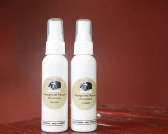 Essential Oil For Pets,  Lavender and Rosemary, Oatmeal Milk and Honey Pet Spray
