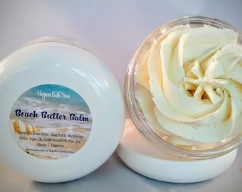 Body Butter, Shave Butter, Coconut Body Butter, Sunburn Relief, Beach Butter