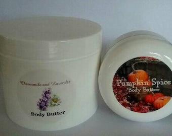 Pumpkin Spice Body Butter, Chamomile Body Butter, Lavender Body Butter, Natural Body Butter,Stocking Stuffer