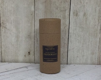 Zero Waste Charcoal Deodorant--Unscented Baking Soda Free and Aluminum Free for Self Care