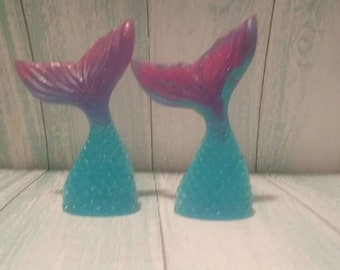 Mermaid Tail Glycerin Soap, Birthday Favor, Baby Shower Favor, Bridal Shower Gift