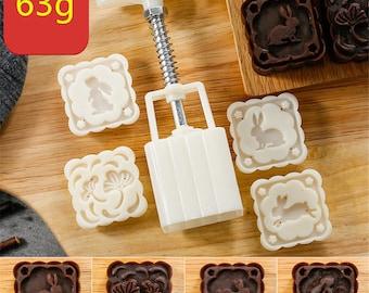 moon cake press, heart moon cake press, bath bomb mold, soap tool, 50 g press