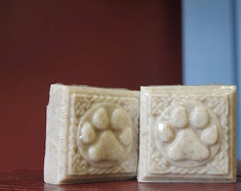Dog Soap Handmade, Detergent Free Oatmeal, All Natural With Honey, Lavender and Rosemary or Lemongrass