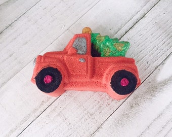 Christmas Tree Red Truck Bath Bomb