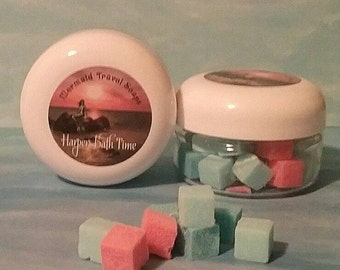 Travel Soap, tiny soap, mermaid, herbal soap, Organic Detergent Free, Shea Butter Soap,Holiday soap