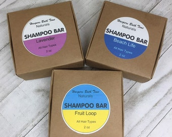 Shampoo Bar all Natural Lavender, Eucalyptus, Tea Tree Shampoo Bar Plant Based Zero Waste Packaging for Self Care