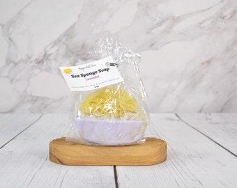 Sea Sponge Goat Milk Soap. Beach Fragrance Sponge Soap, Lavender Soap, Oatmeal and Honey Soap, Honeysuckle Soap