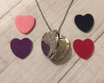 Aromatherapy Essential Oil Locket Necklace Valentines Day Gift
